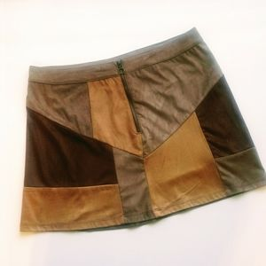 New York & company block mini skirt